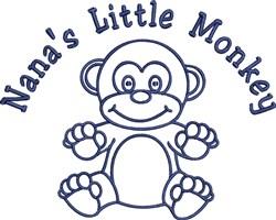Nanas Monkey embroidery design