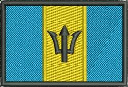 Flag Of Barbados embroidery design