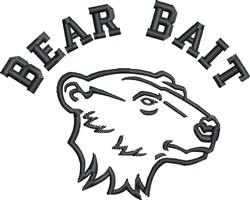 Bear Bait embroidery design