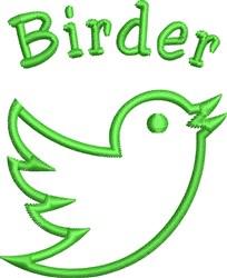 Birder Outline embroidery design