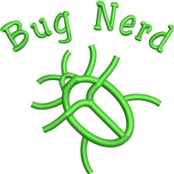 Bug Nerd embroidery design