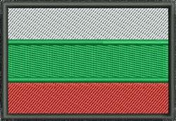 Flag Of Bulgaria embroidery design