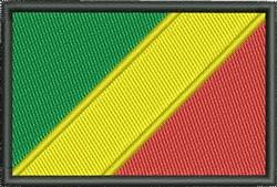 Flag Of Congo Republic embroidery design