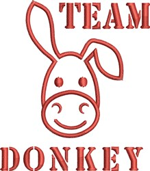 Team Donkey embroidery design