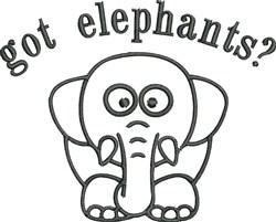 Got Elephants embroidery design