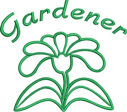 Gardener embroidery design