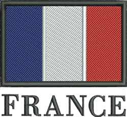 France Flag embroidery design