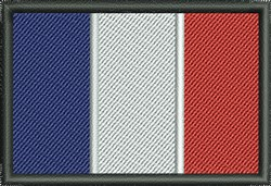 Flag Of France embroidery design