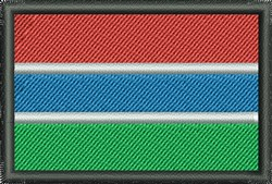 Flag Of Gambia embroidery design
