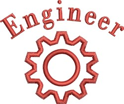 Engineer embroidery design