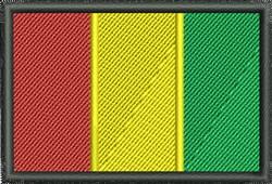 Flag Of Guinea embroidery design