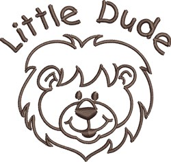 Little Dude embroidery design
