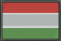 Flag Of Hungary embroidery design