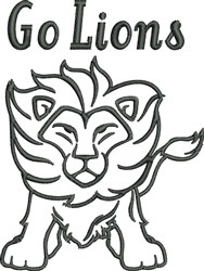 Go Lions embroidery design
