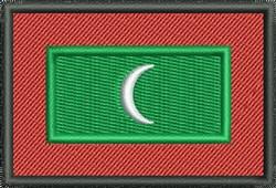 Flag Of Maldives embroidery design