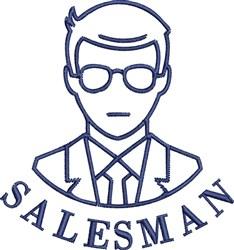 Salesman embroidery design