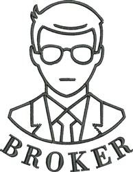 Broker embroidery design
