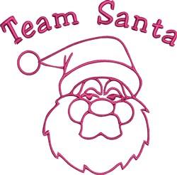 Team Santa embroidery design