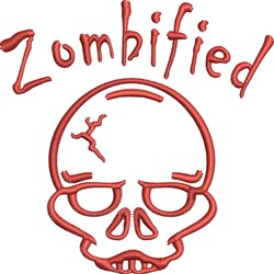 Zombified embroidery design
