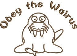 Obey The Walrus embroidery design