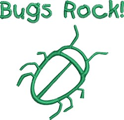 Bugs Rock embroidery design