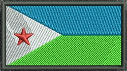 Djibouti Flag embroidery design