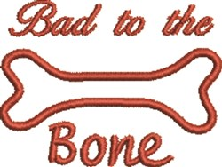 Dog Bone Outline embroidery design