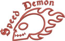 Flaming Skull Outline embroidery design