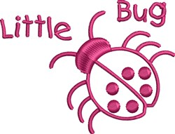 Lady Bug Outline embroidery design