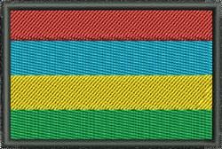 Mauritius Flag embroidery design