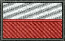Polish Flag embroidery design