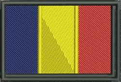 Romania Flag embroidery design