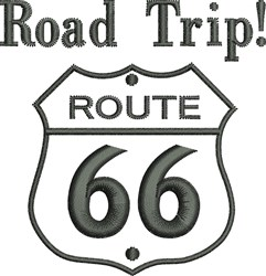 Route 66 Outline embroidery design