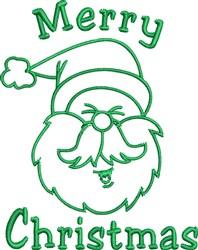 Santa Claus Outline embroidery design
