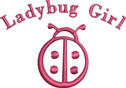 Small Ladybug Outline embroidery design