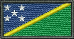 Solomon Islands Flag embroidery design