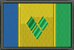 St Vincent Grenadines Flag embroidery design