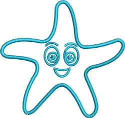 Starfish Outline embroidery design