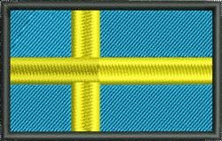 Sweden Flag embroidery design