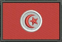 Tunisia Flag embroidery design