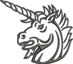 Unicorn Outline embroidery design