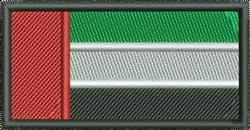 United Arab Emirates Flag embroidery design
