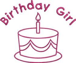 Birthday Girl Outline embroidery design