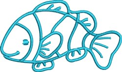 Clownfish Outline embroidery design