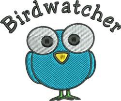 Birdwatcher embroidery design