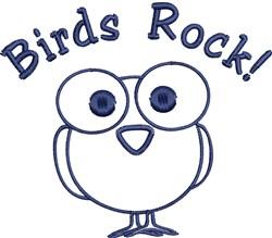 Birds Rock Outline embroidery design