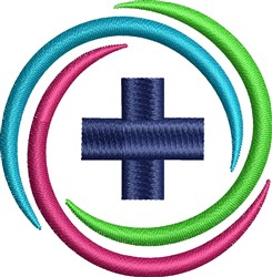 Cross In Circle embroidery design