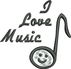 Love Music embroidery design