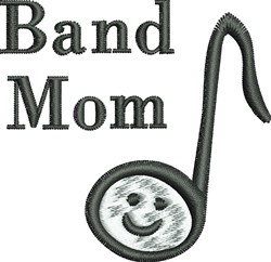 Band Mom embroidery design