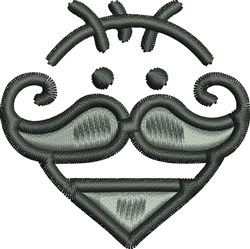 Mustache Man embroidery design